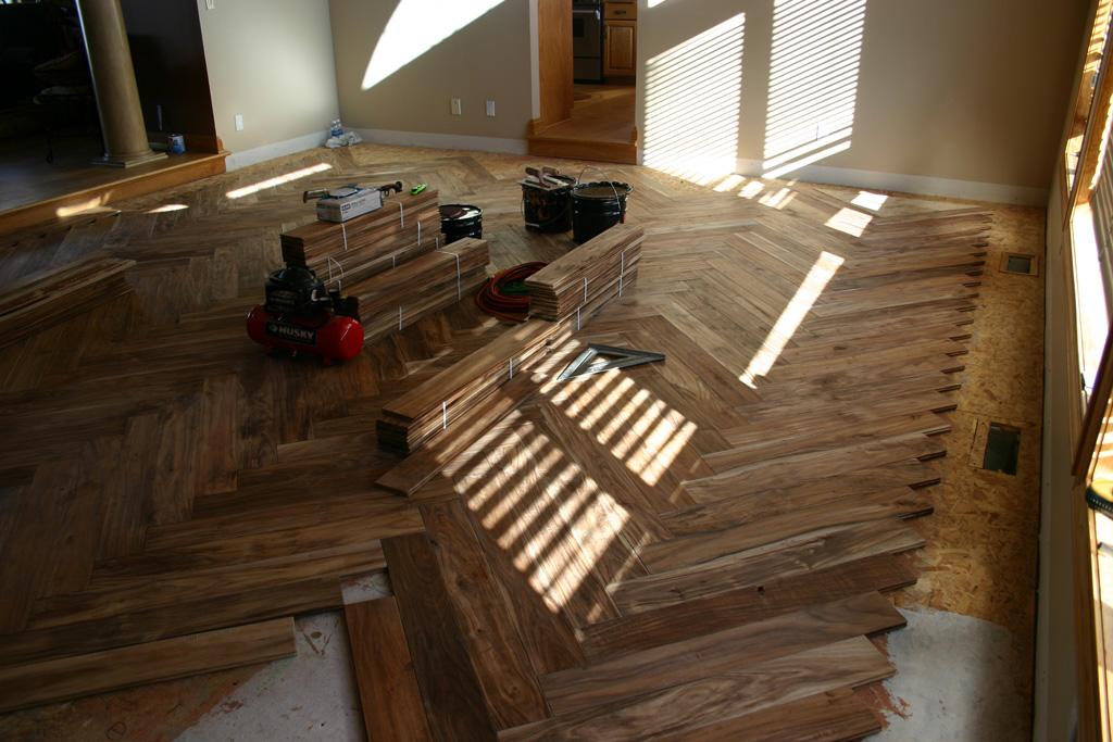 New Residential Construction Flooring Installation