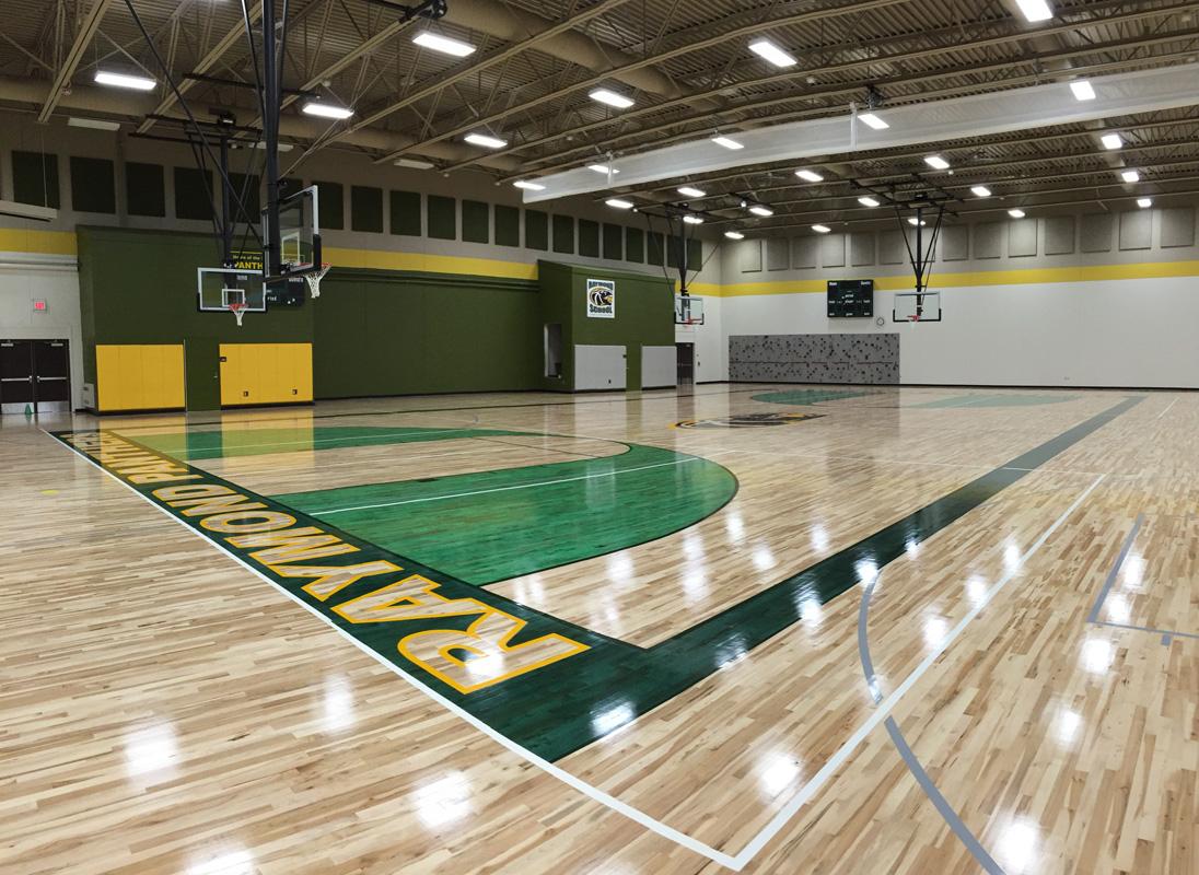 Indoor outdoor basketball court gym floor installation for Indoor basketball court installation